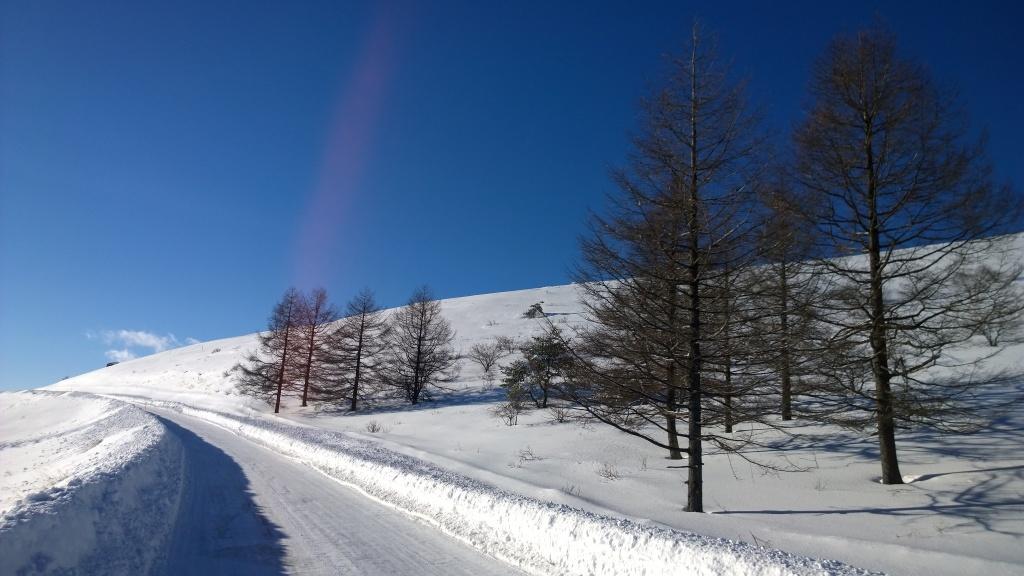 ビーナスラインの雪景色