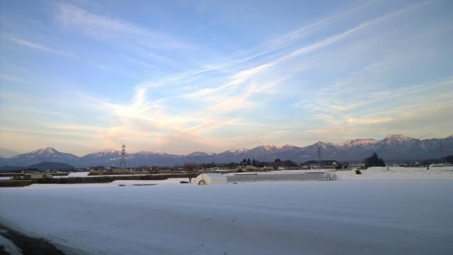 阿久遺跡望む冬の八ヶ岳連峰