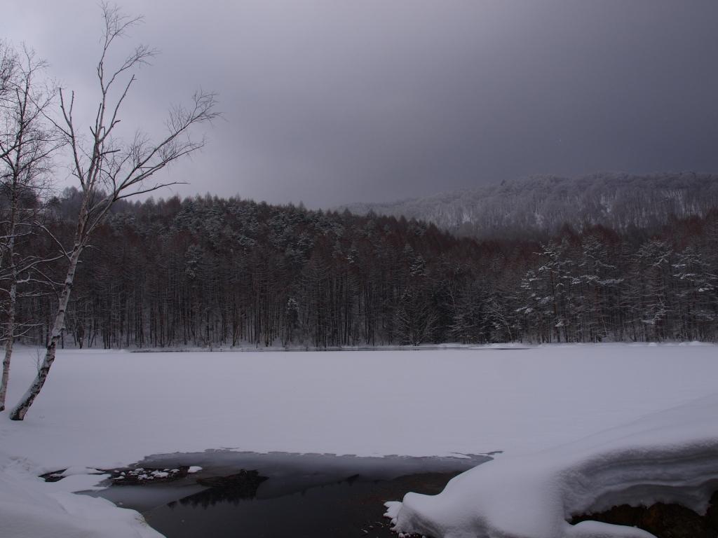 雪の御射鹿池1