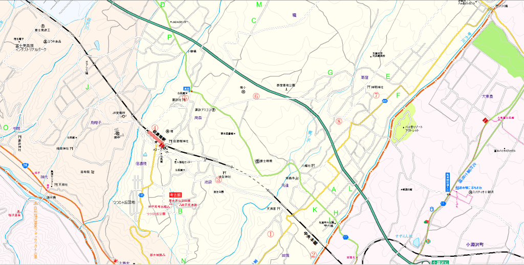 信濃境撮影マップ