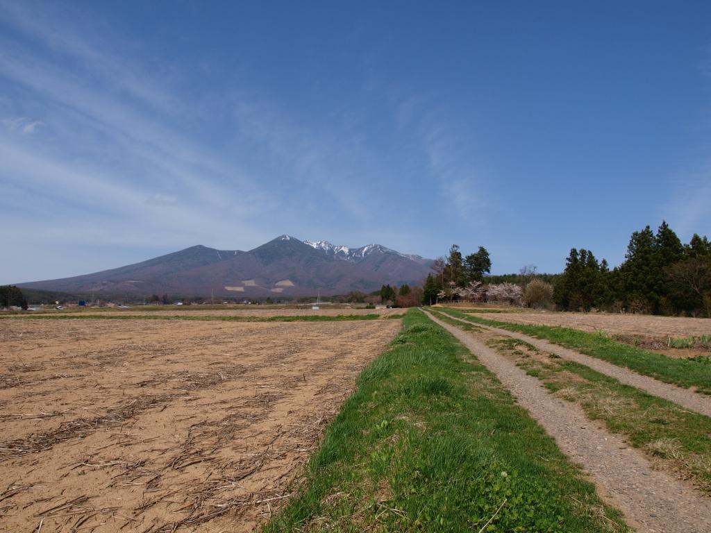 残雪の八ヶ岳遠望1