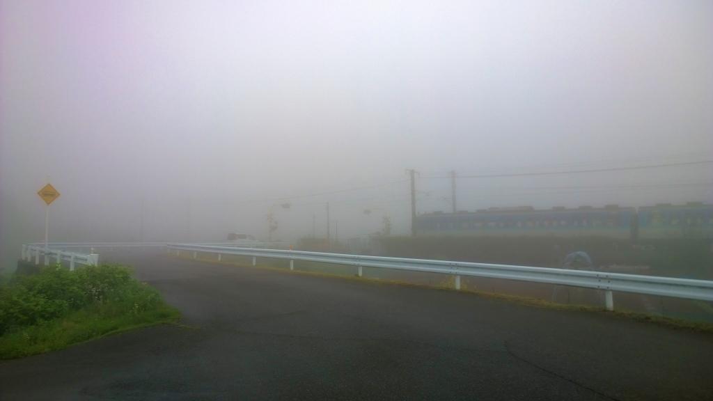 濃霧の朝1