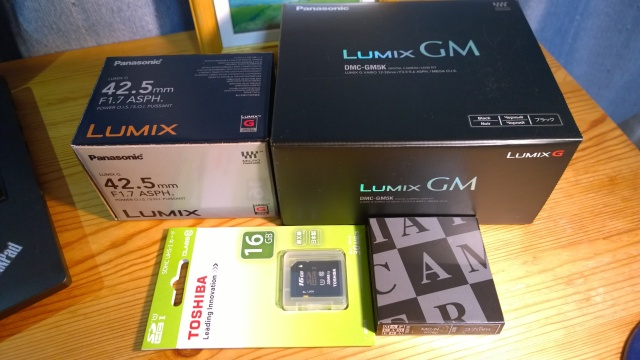 Lumix GM5開封
