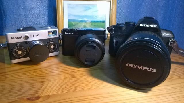 Lumix G5とRollei35とE-420