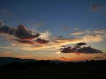 盛夏の夕暮れ、立沢にて1