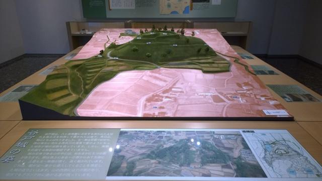 北杜市考古資料館の谷戸城跡ジオラマ