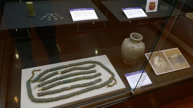 北杜市考古資料館の指銭と経筒