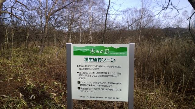 八ヶ岳演習林の解説看板1