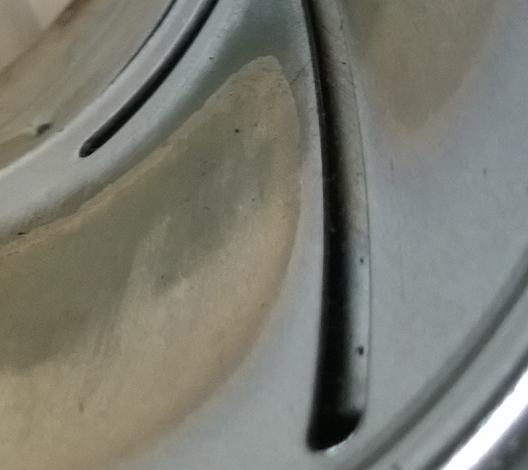 レインボーストーブしん調整器ガイド溝の穴