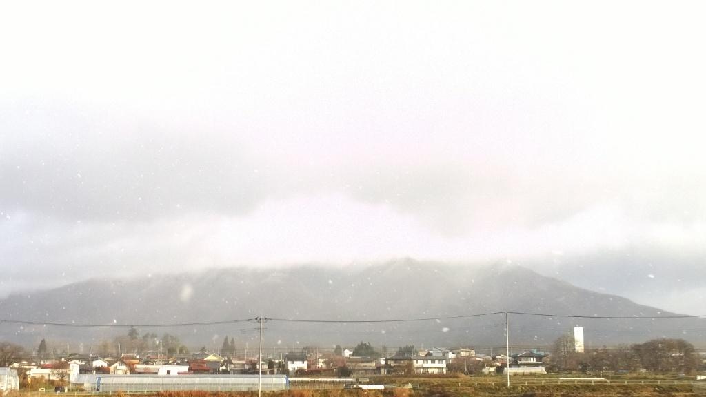 雪が舞う八ヶ岳