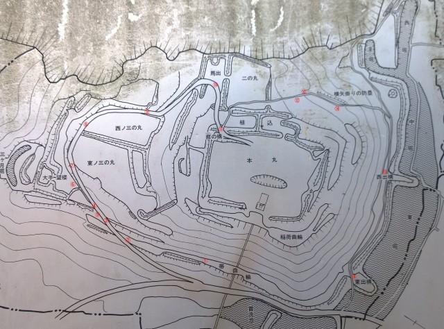 新府城略図1