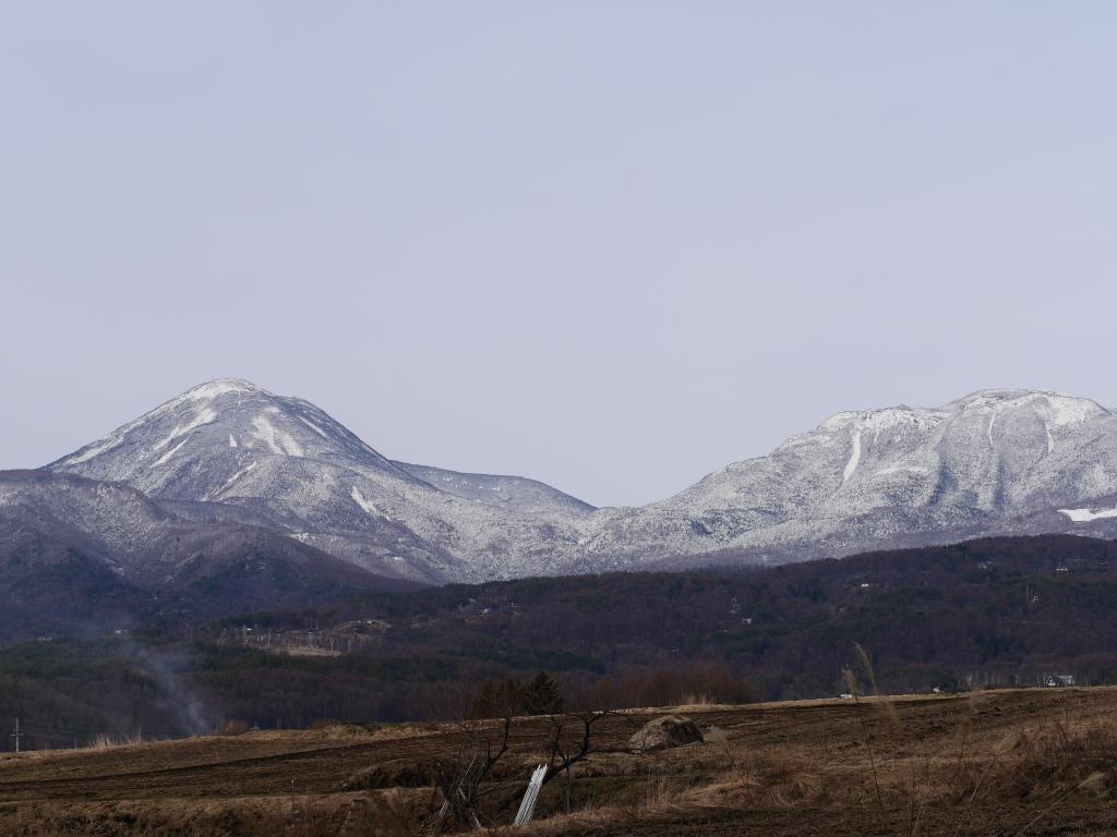 春先の蓼科山