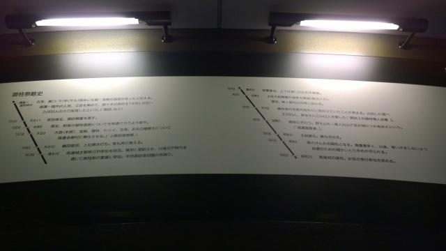 諏訪博物館常設展示、御柱略年表