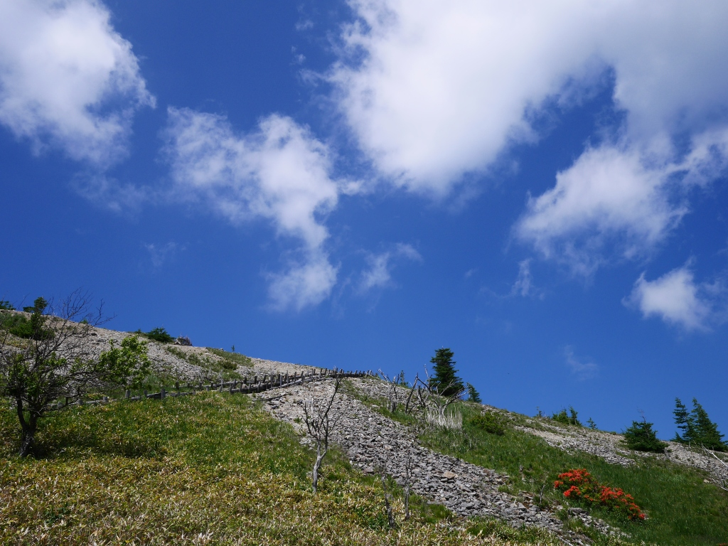 武石峰と登山道