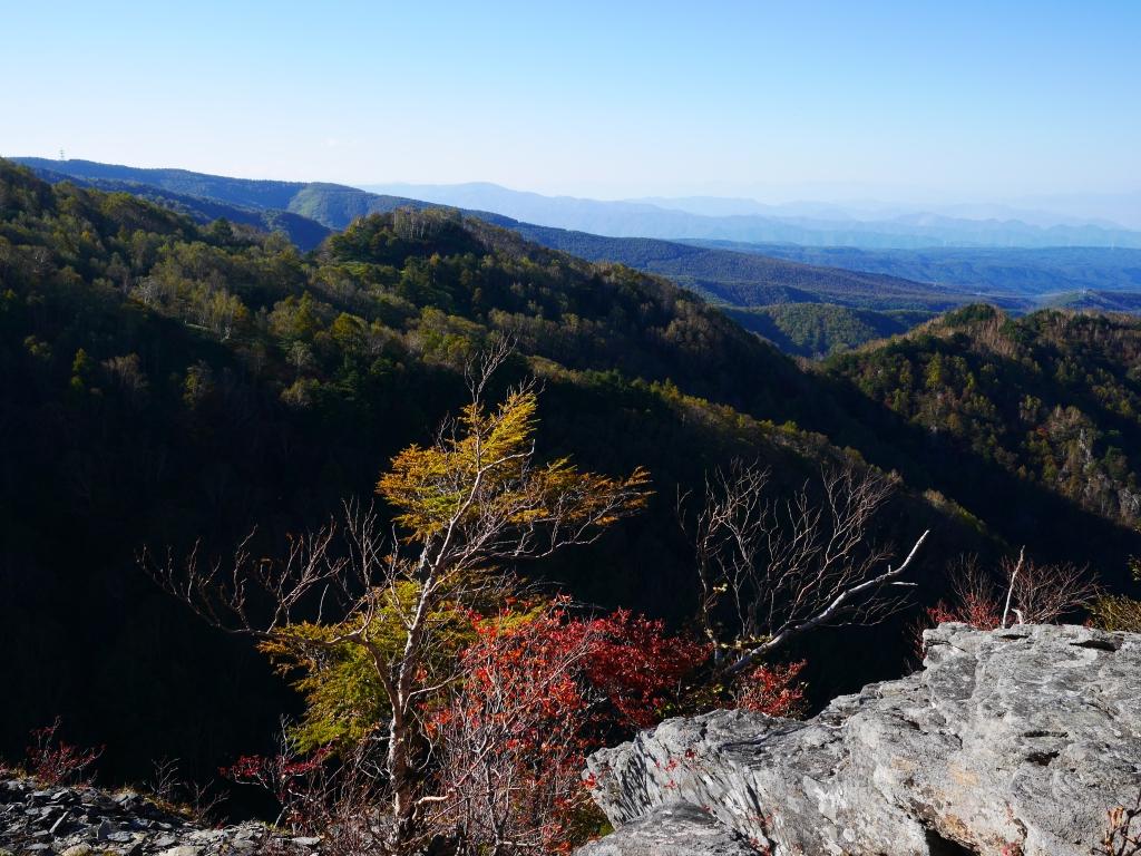 秋の鹿曲川渓谷遠望2