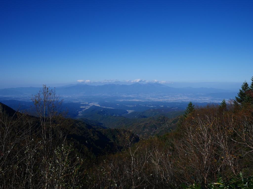 秋の大河原峠から浅間山遠望1
