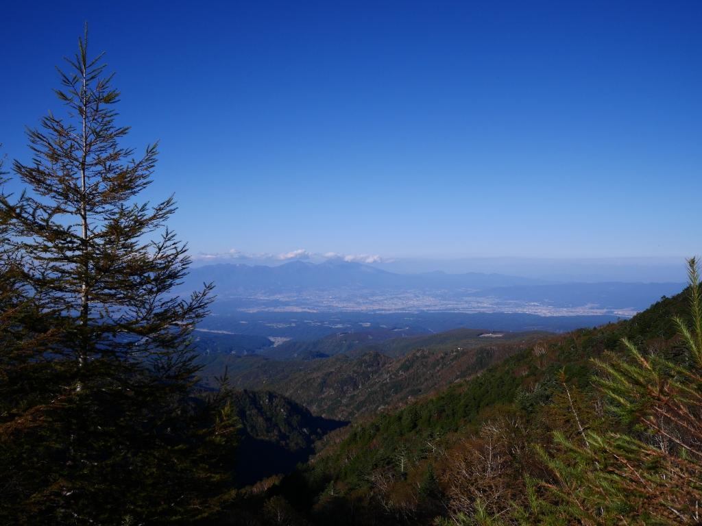 秋の大河原峠から浅間山遠望2