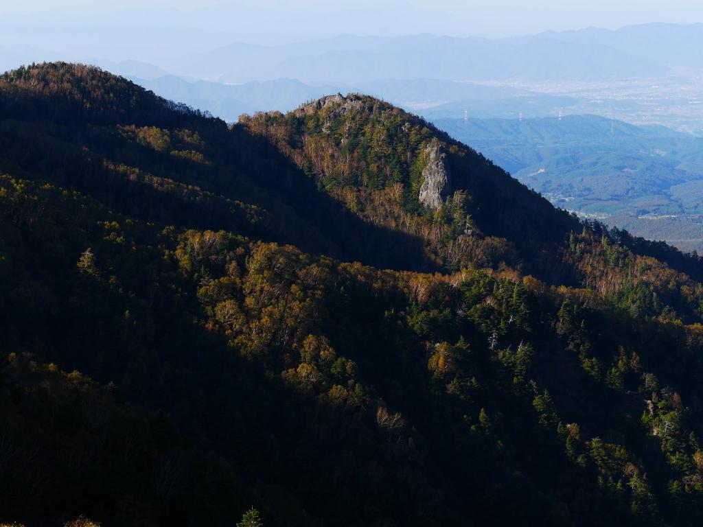 秋の大河原峠から遠望