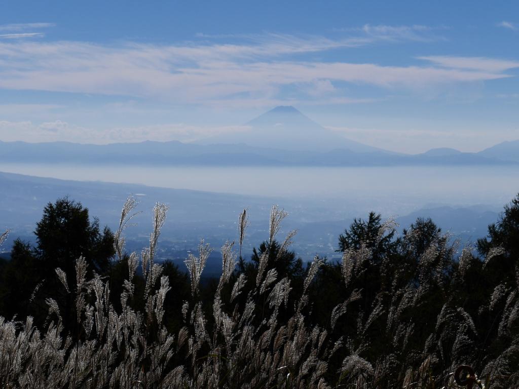 観音平から秋の富士山