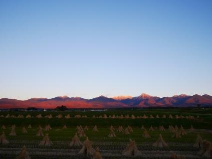 夕暮れに染まる八ヶ岳1