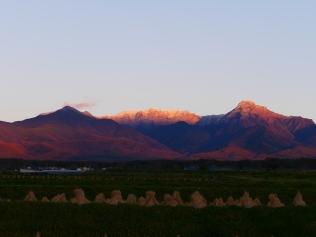 夕暮れに染まる八ヶ岳2