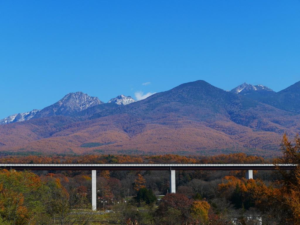 立沢大橋と八ヶ岳
