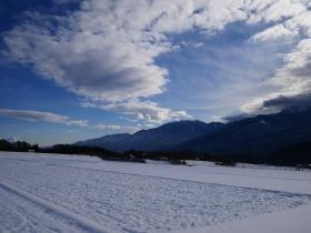雪景色となった八ヶ岳山麓の午後(2016.1.9)