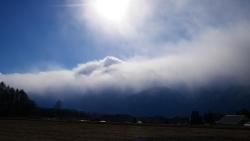 雪雲と南アルプス2