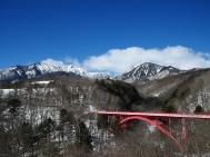雪色の東沢大橋