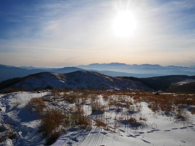 暖かな新年の午後・霧ヶ峰(2018.1.7)