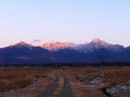 桃色の八ヶ岳1