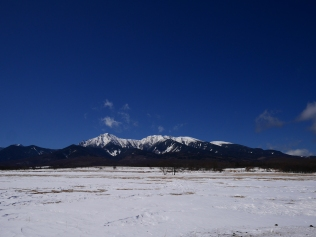 藍の空の下で八ヶ岳5