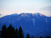 夕暮れの鳳凰三山