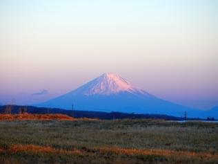 立沢_夕暮れの富士山