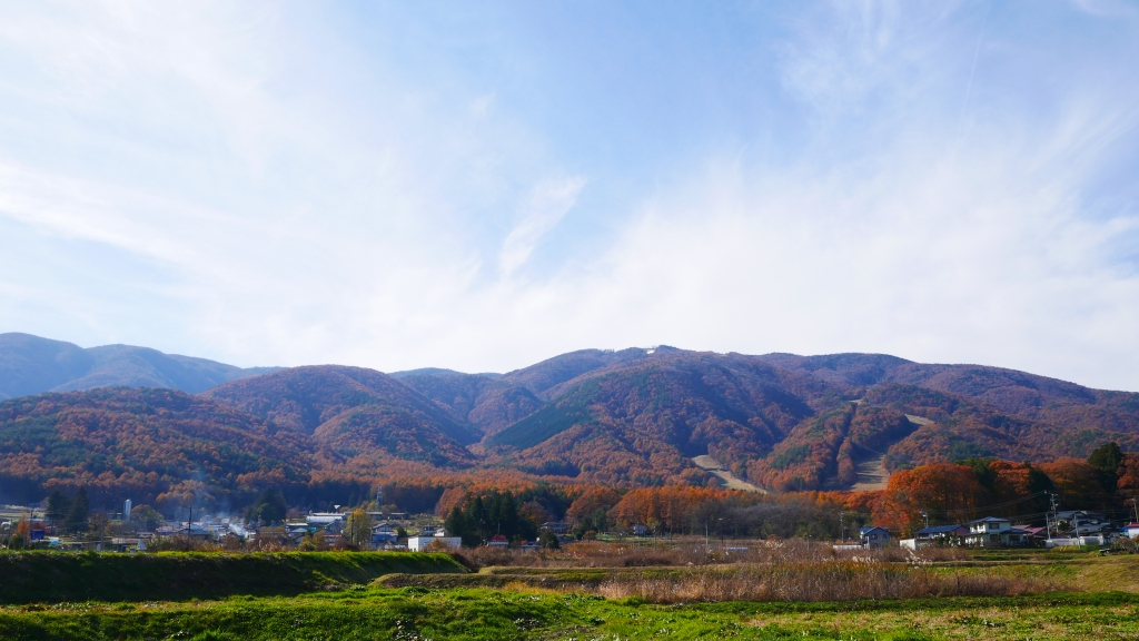 落葉松色に染まる入笠山