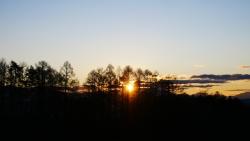 夕暮れの日射し