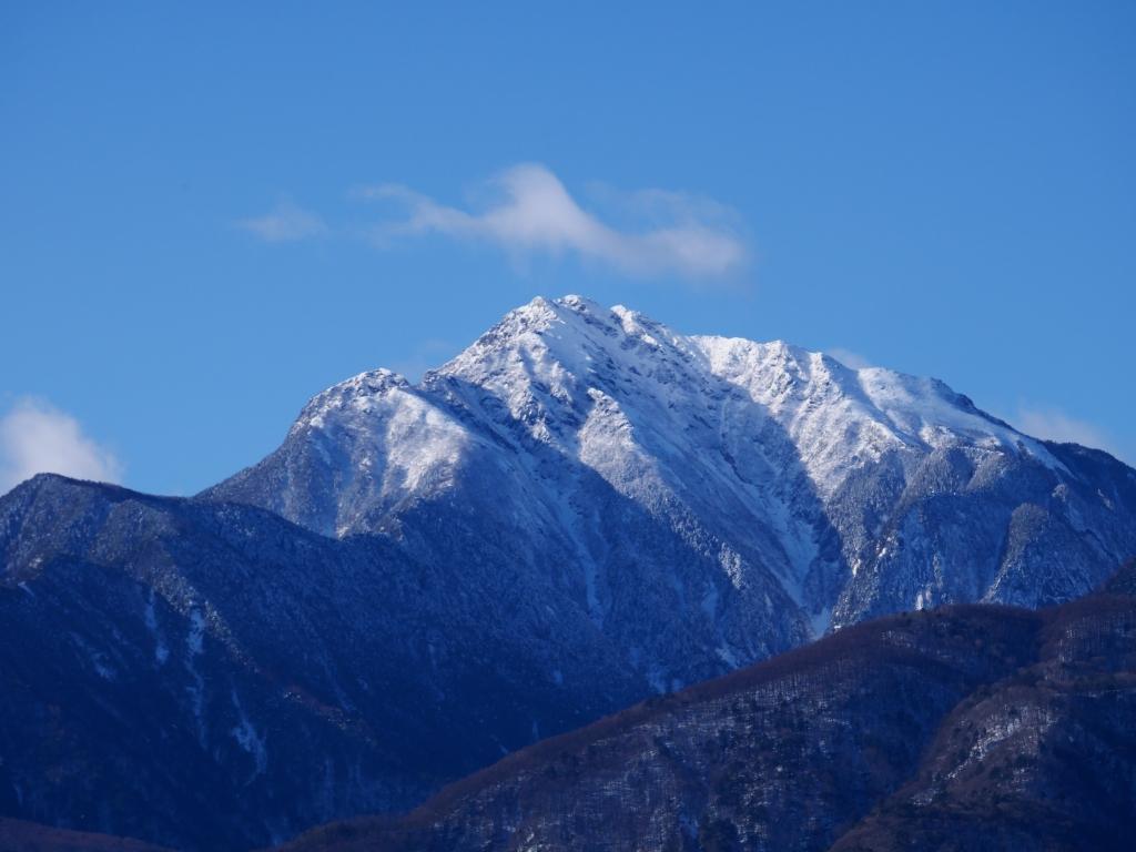 厳冬期の甲斐駒雪渓2