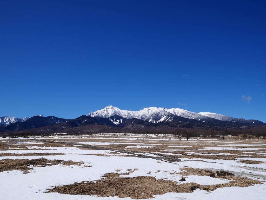 雪の少ない野辺山と八ヶ岳
